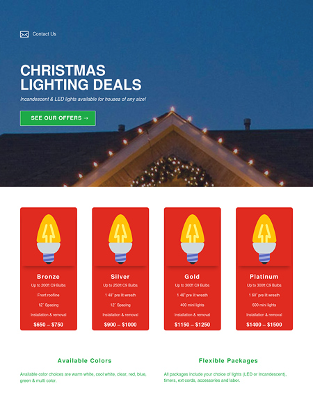 Christmas Lighting Deals
