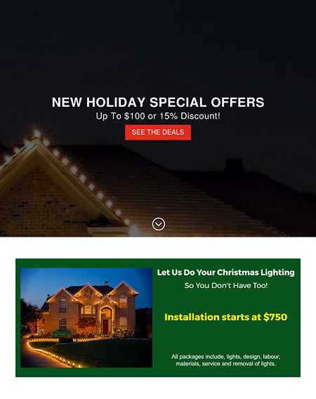 Let us do your Christmas Lighting