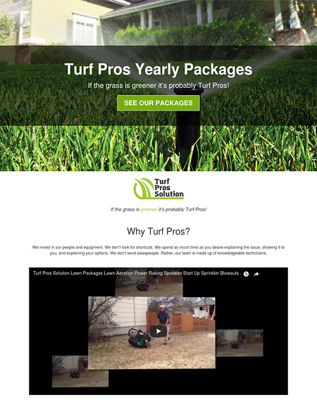 Turf Pros Yearly Packages