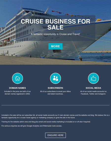 Cruise Business for Sale