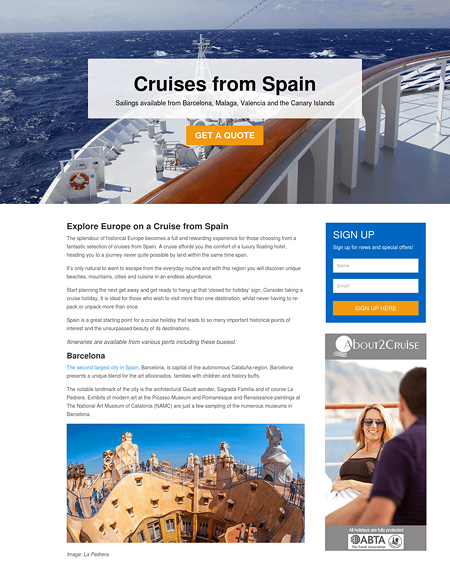 Cruises from Spain