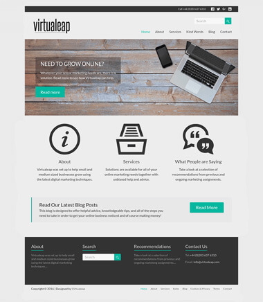 Image of a web design project for Virtualeap.com