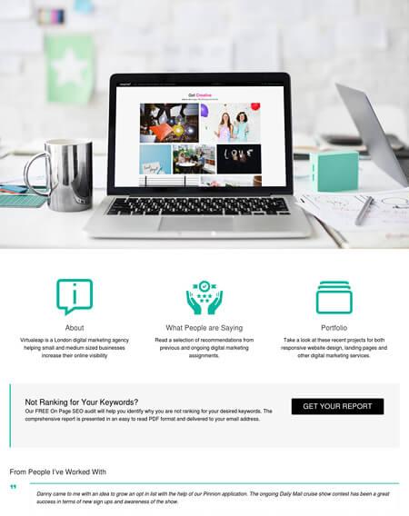 Web design for Virtualeap.com