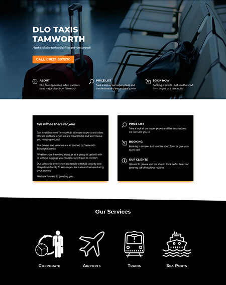 DLO Taxis Website by Virtualeap Web Design Cyprus