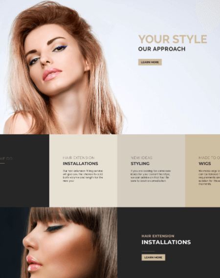 New Web Design - Crystals Hair Extensions Nicosia 1040 Cyprus