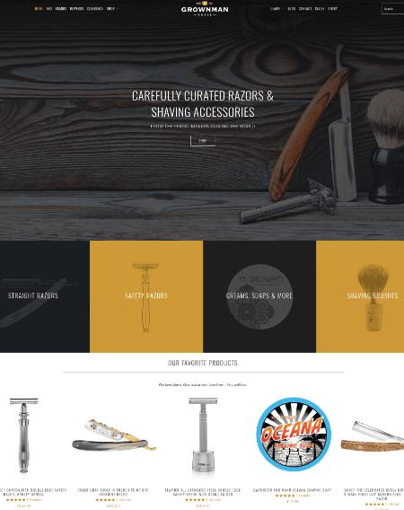 Grown-Man-Shave-Shopify-Web-Design Cyprus
